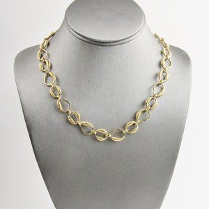 80's NOS CARRE ROPED CHAIN NECKLACE RETAIL $112
